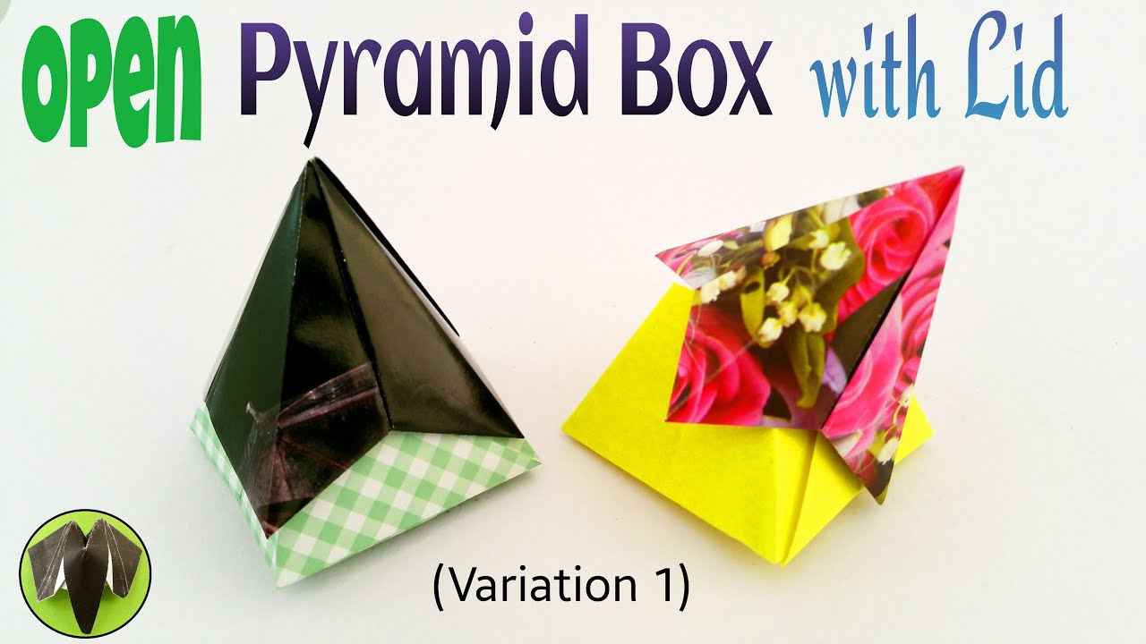 Origami Tutorial To Make A Paper Open Pyramid Box With Lid