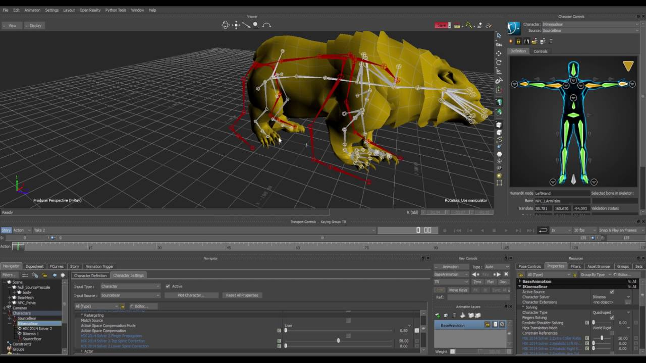 Quadruped Retargeting - IKinema Action for MotionBuilder