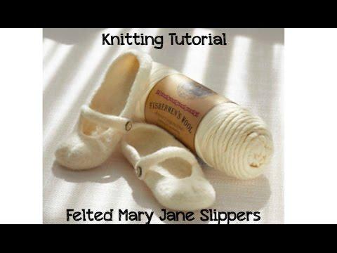KNITTING TUTORIAL - MARY JANE SLIPPERS
