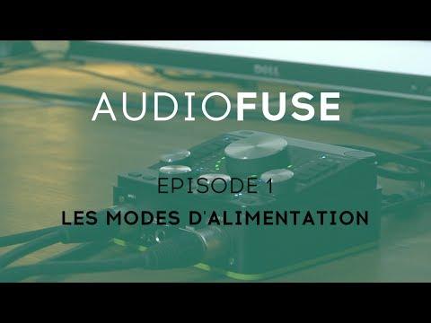 ARTURIA  : L'interface audio AUDIOFUSE - 1 Les modes d'alimentation (vidéo de la boite noire)