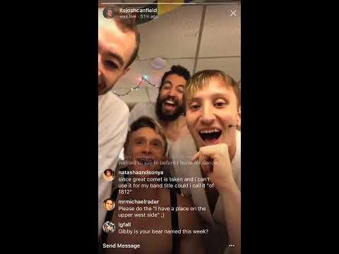 Josh Canfield's Instagram Livestream  83117