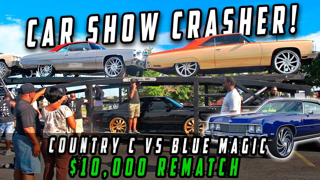 Donkmaster Crashes FLA2ATL Car Show ( Blue Magic vs Country C $10,000 Rematch)- Donk Racing