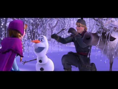 Frozen movie clip -- meet Olaf the Snowman