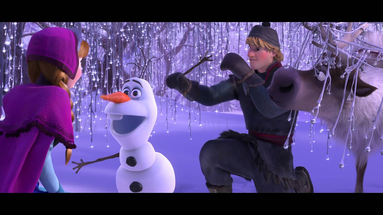 Frozen Movie Clip Meet Olaf The Snowman Youtube