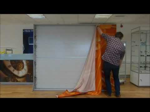 Installing A Fabric Into A Unibox Tension Fabric System