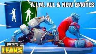 *NUEVO* Fortnite A.I.M. Leaked Skin, Denied Emote, Spike It Dance & All My Emotes