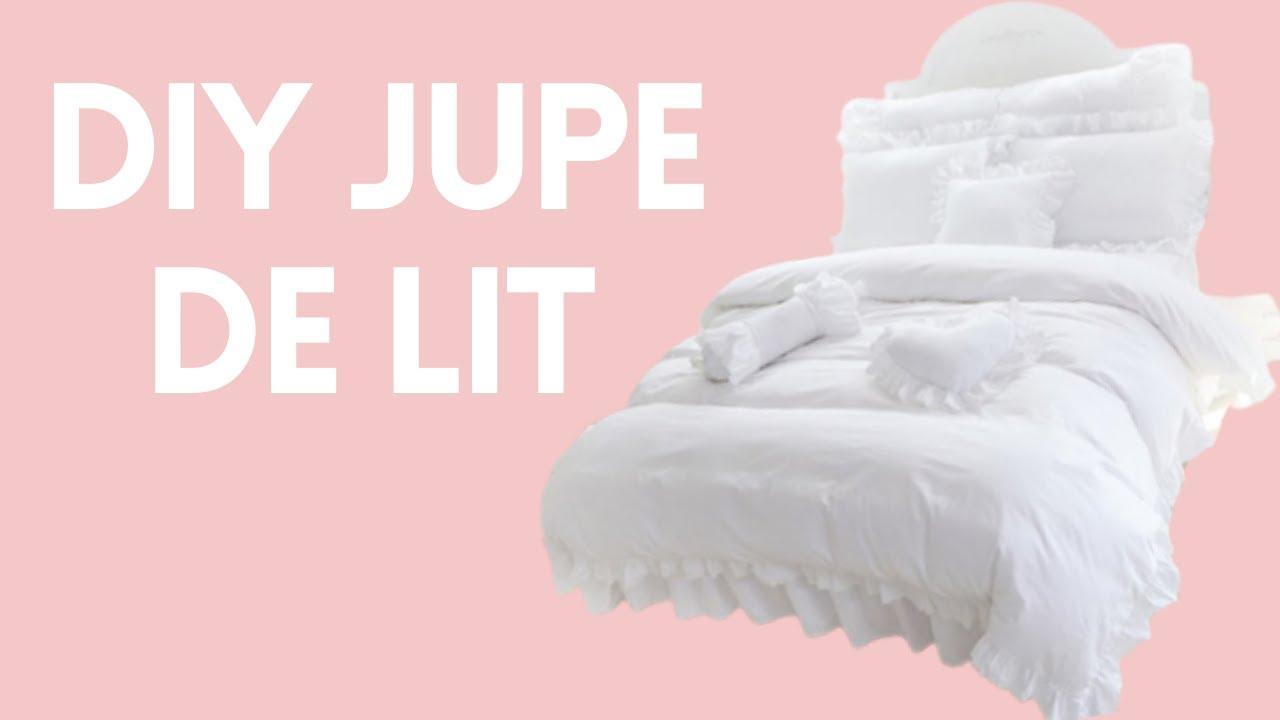 ✮ DIY ✮ Jupe de lit / Cache Sommier ✮ Shabby Chic | Caly Beauty ...