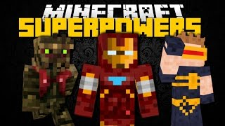 Minecraft Mod Showcase: SUPERHERO MOD (Fantastic Four, Flash, Groot) Brothers