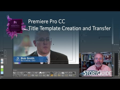 Create, Save and Share Title Templates in Premiere Pro CC