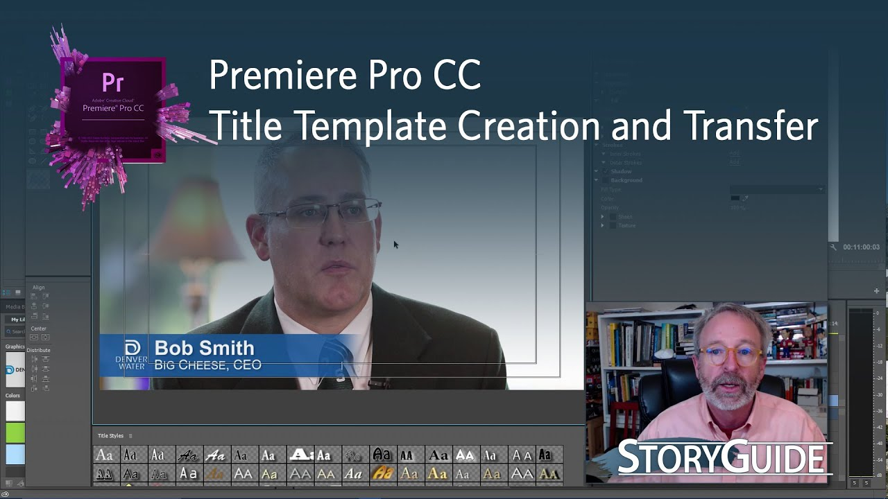Create save and share title templates in premiere pro cc youtube for Title templates premiere pro