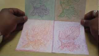 Art Lessons For Kids: Texture Leaf Rubbing--tribute To Andy Warhol