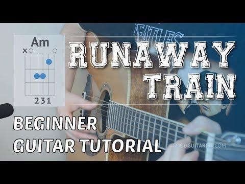 """Runaway Train"" Easy Beginner Guitar Tutorial | Soul Asylum - Simple Chords & Strumming"