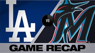 Rios backs Kershaw with 2-homer game | Dodgers-Marlins Game Highlights 8/14/19