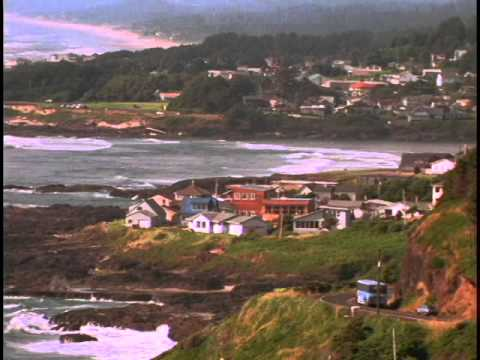 Yachtas Lincoln County Oregon Coastal Town Houses Stock Footage
