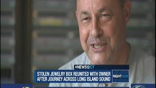 News 12: Stolen Jewelry Box Tossed in Ocean Survives Journey Across L.I. Sound