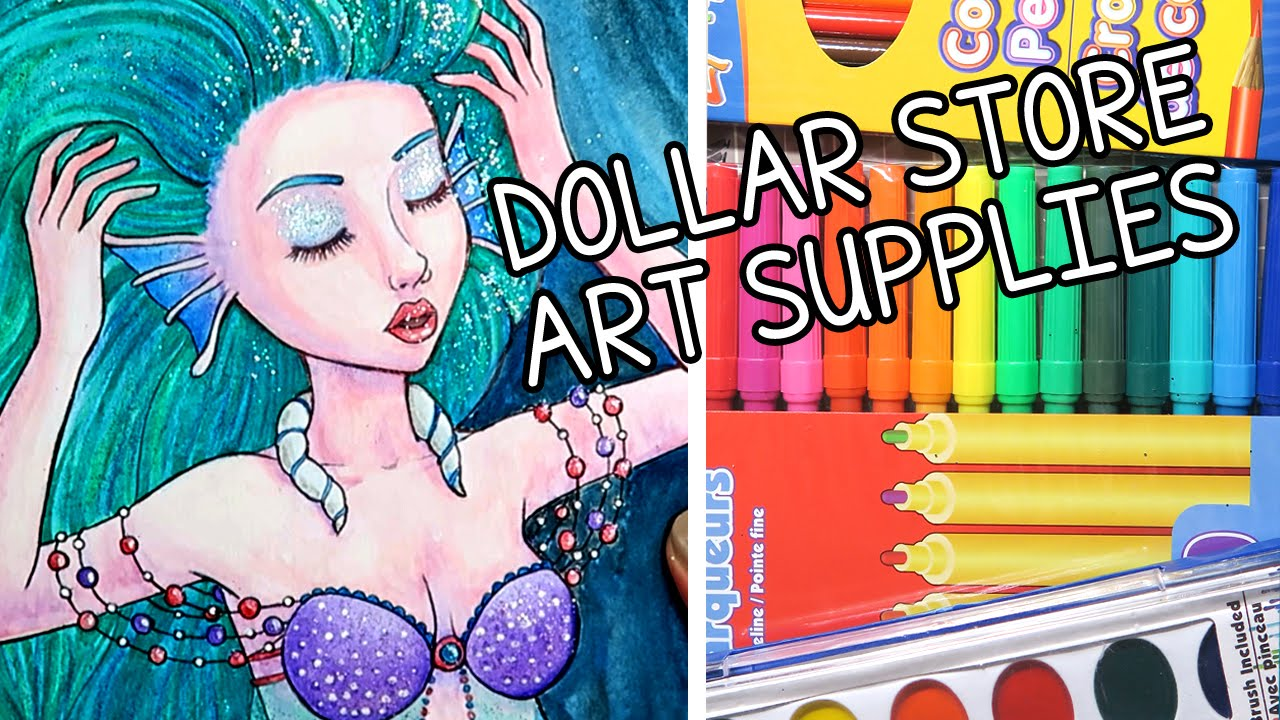 CHEAP ART SUPPLY CHALLENGE YouTube