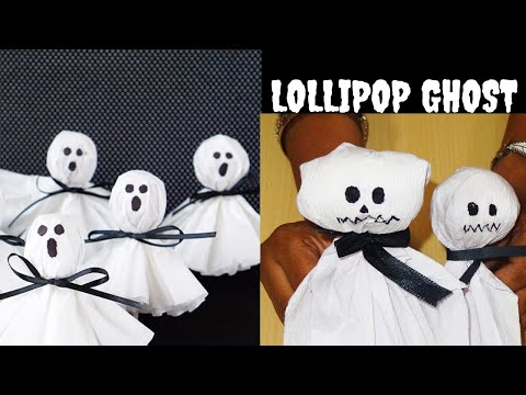 HALLOWEEN CRAFT PART-3 || LOLLIPOP GHOST CRAFT FOR KIDS || LOLLIPOP MONSTER CRAFT