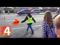 ШКОЛЫ США  Безопасноть детей на дорогах возле школ. ВЛОГ Идем со школы.