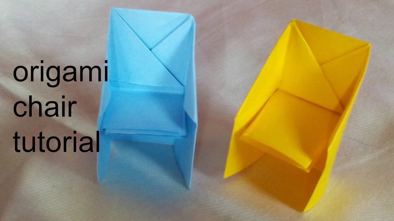 Paper craft how to make origami chair tutorial easy for Craft work with paper folding