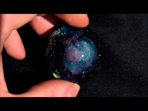Super Nova Remnant with Opal Stars SC Glass Studio