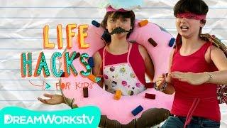 TMNT and Donut Costume Hacks   LIFE HACKS FOR KIDS