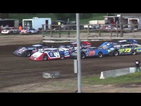 IMCA Late Model Heat 2 Independence Motor Speedway 8/24/19