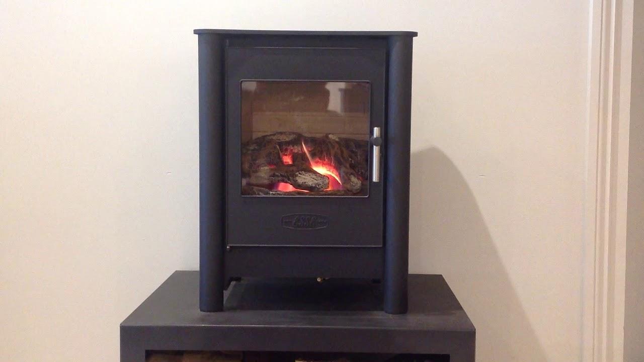 esse fg525 flueless gas stove 1 5 3 3kw heat output 100 energy