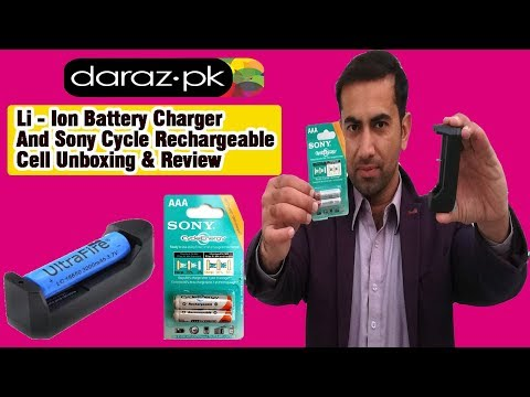 Lithium Ion Battery Charger and Sony Cycle Rechargeable Cell Unboxing & Review