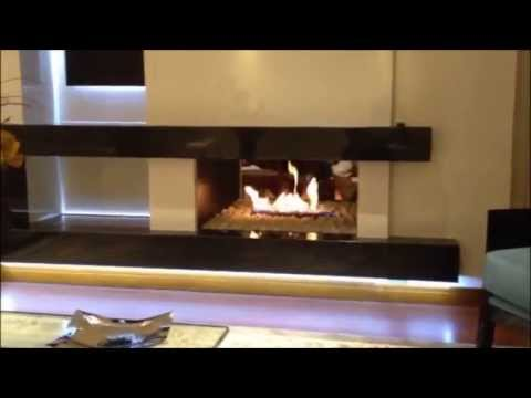 Dise o interior cortinas y chimeneas youtube - Chimenea de diseno ...