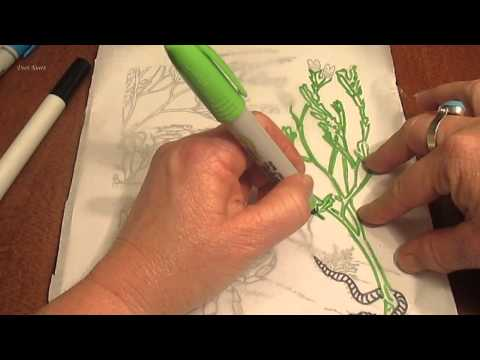 ASMR  **TRACING ON PAPER WITH MARKERS**