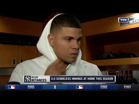 Dellin Betances on his relief appearance against the Blue Jays