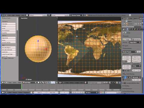 Blender Animation Tutorial Making the Moon Orbit the Earth Using the Action Editor Part 1 Earth
