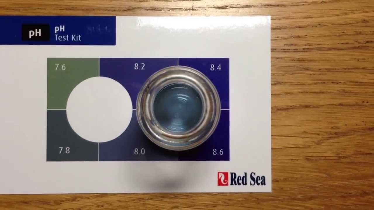 Red Sea Marine Care Test Kit Ph Test Youtube