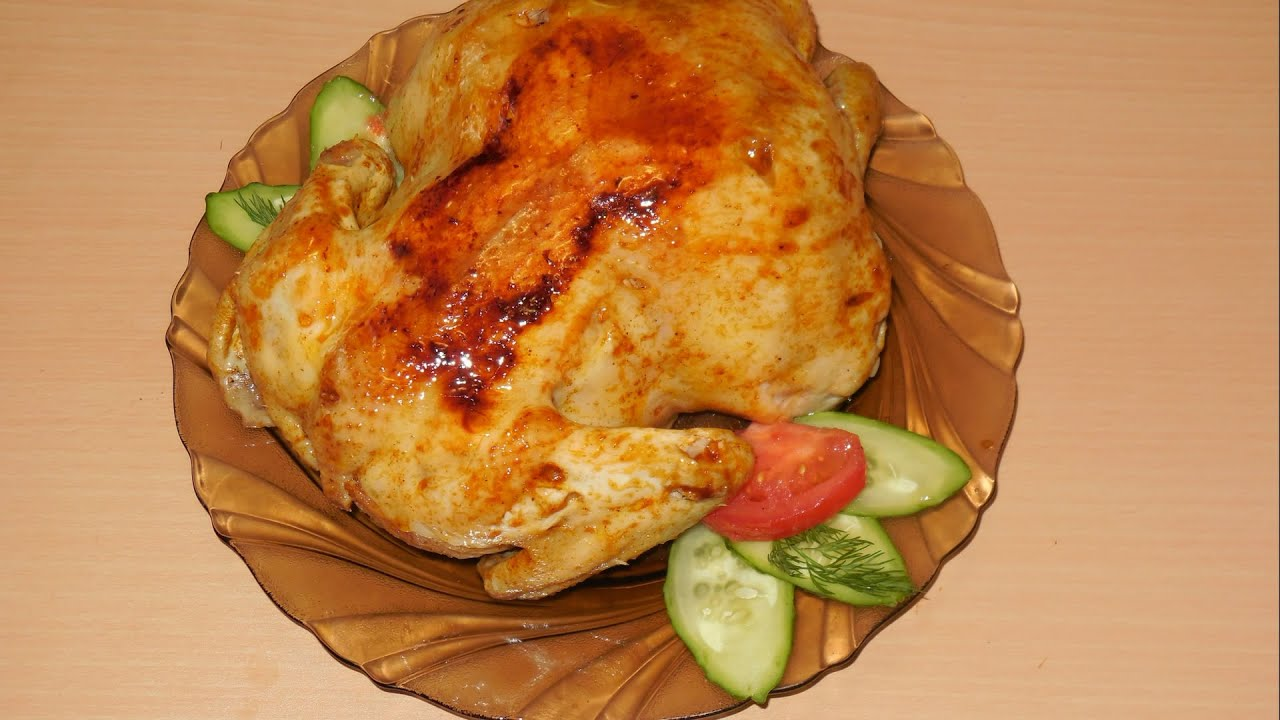 Цыпленок  фаршированный маринованным луком. Chicken stuffed with pickled onions.
