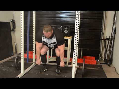 907lbs x 5 Deadlift with Reverse Bands!