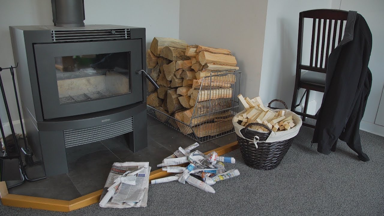How To Light A Fire On Your Wood Burner Youtube