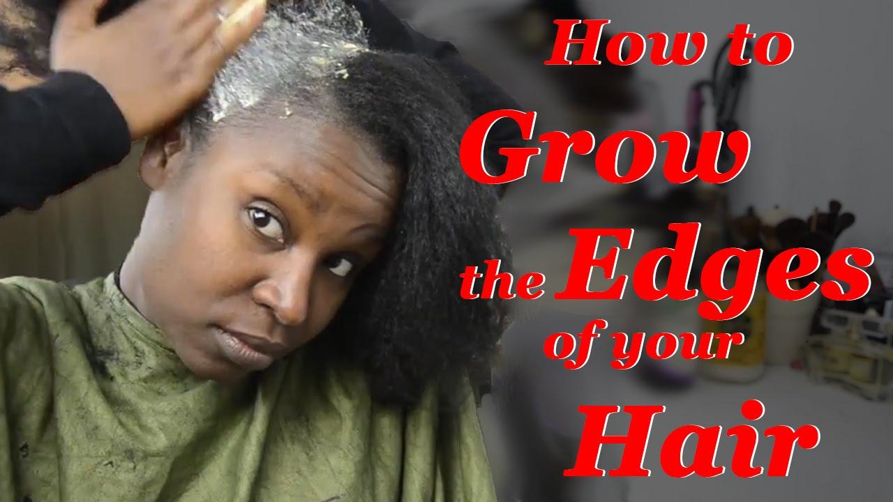 How to GROW back the EDGES of your HAIR, MAYONNAISE TREATMENT ...