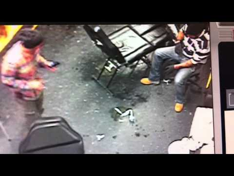 Guys Pass's Out In Tattoo Parlor(iPhone4 rec. from security camera)