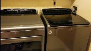 my new Whirlpool washer & dryer tour