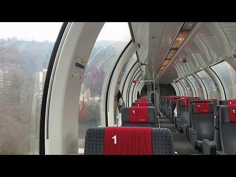 Switzerland: SBB, Riding onboard a 1st Class Swiss panoramic coach