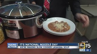 Recipes: Slow-cooker Lasagna Soup For National Noodle Day