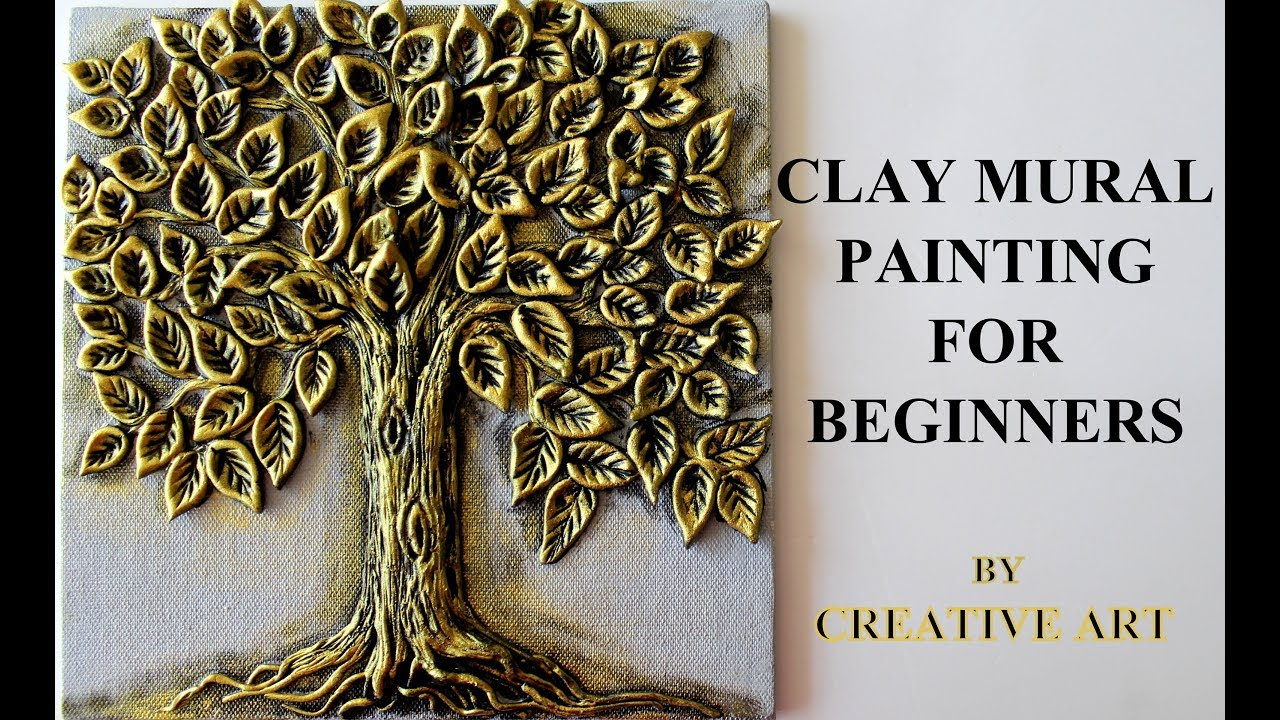 Clay Mural Painting For Beginners Youtube