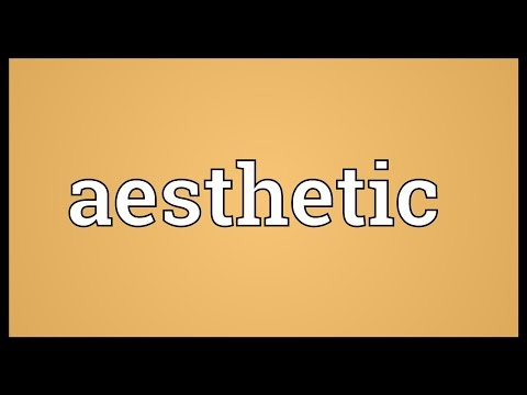 Aesthetic Meaning