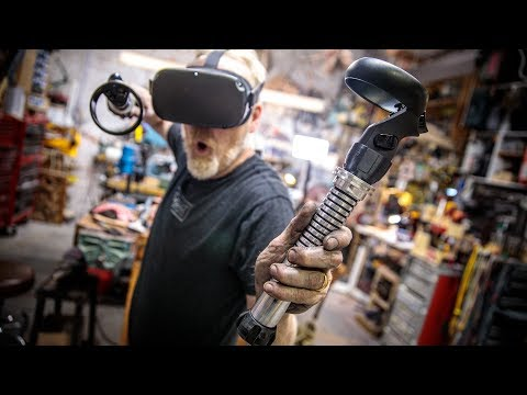 Adam Savage's One Day Builds: Custom Beat Saber Hilts!
