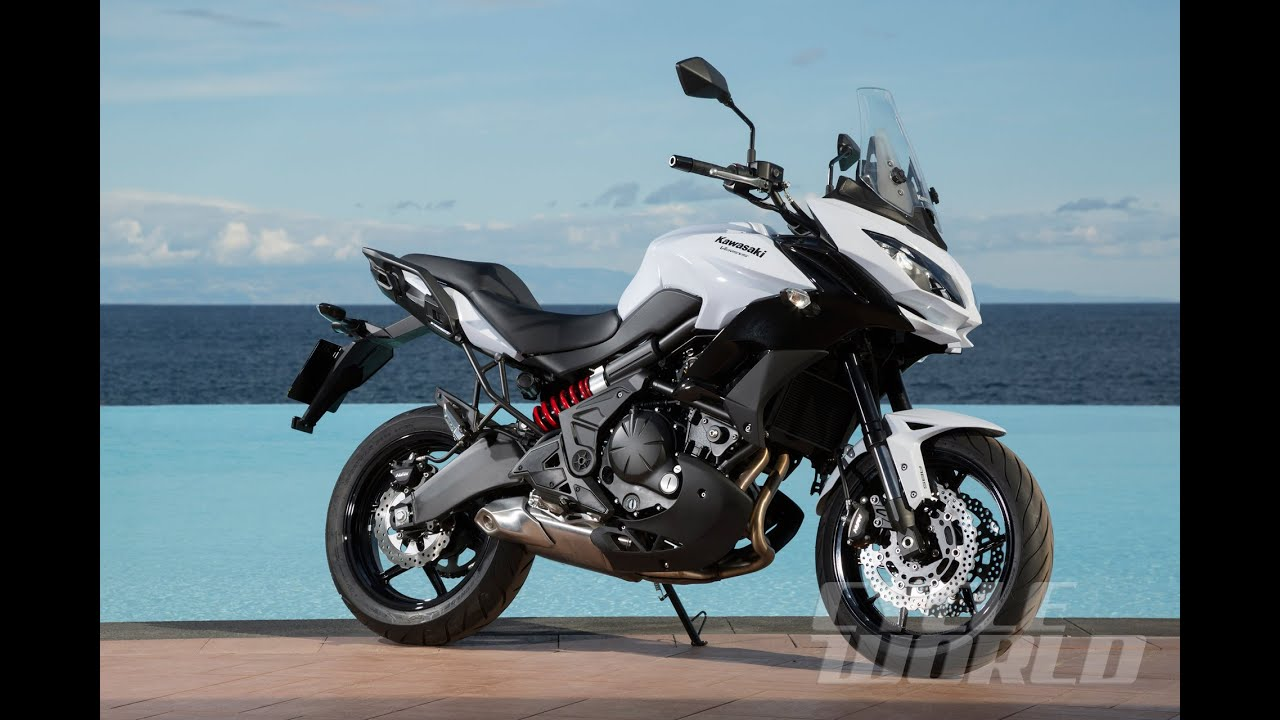 kawasaki versys 650 lt handguards and hard bags are standard on