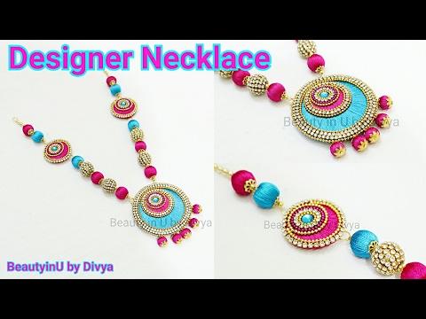 How to make Chandbali Silk Thread Necklace at Home // DIY// Silk Thread Jewellery Tutorial