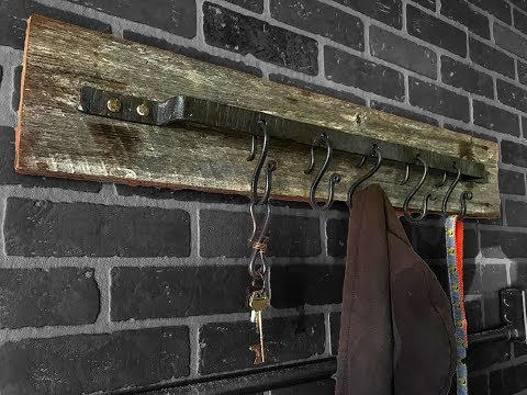 Forged farmhouse style coat rack | How-To