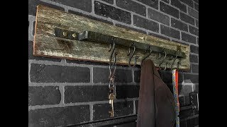 Forged farmhouse style coat rack   How-To