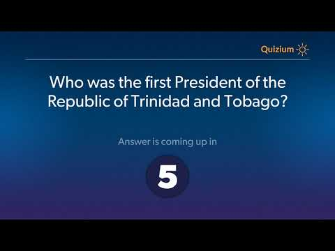 Who was the first President of the Republic of Trinidad and Tobago?   Trinidad and Tobago Quiz