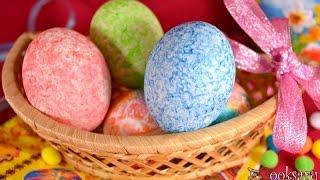 видео Как покрасить яйца рисом